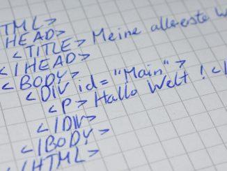 HTML-Code ist die Basis aller Websites.