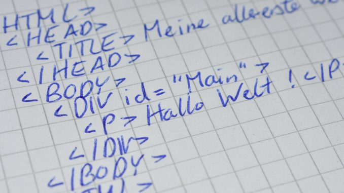 HTML-Code ist die Basis aller Websites.