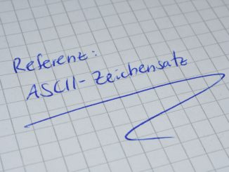 Lang, lang ist's her... und trotzdem braucht man ihn immer mal wieder: Den ASCII-Zeichensatz !