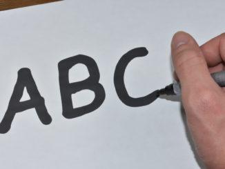 Die Buchstaben des Herrn ABC... professionelles Schreiben will gelernt sein !
