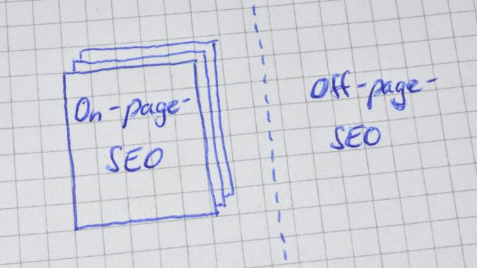 """""""On-page SEO"""" und """"Off-page SEO"""" - zwei wichtige Bereiche der Suchmaschinen-Optimierung !"""